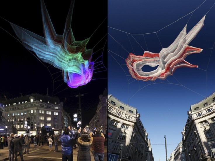 Light Installation by Janet Echelman at Lumiere London 2016 2 lumiere london Light Installation by Janet Echelman at Lumiere London 2016 Light Installation by Janet Echelman at Lumiere London 2016 2