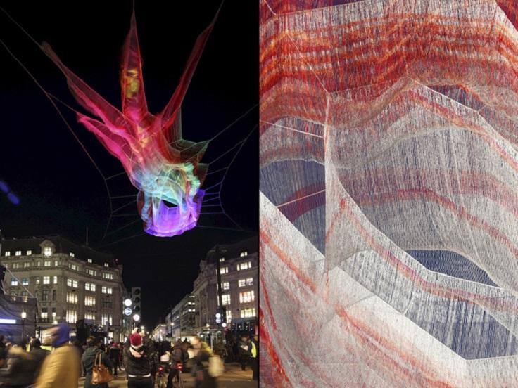 Light Installation by Janet Echelman at Lumiere London 2016 3 lumiere london Light Installation by Janet Echelman at Lumiere London 2016 Light Installation by Janet Echelman at Lumiere London 2016 3