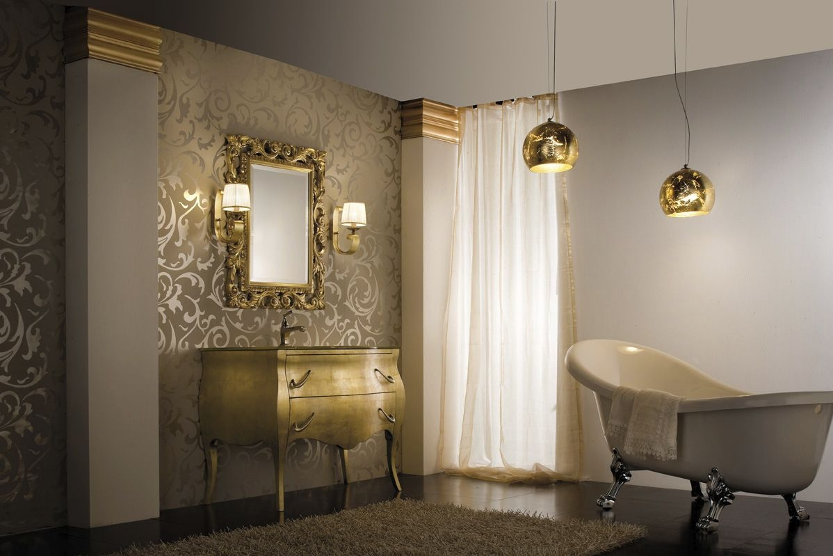 Bathroom Lighting Design Ideas With Gold Details To Decorate Bathrooms