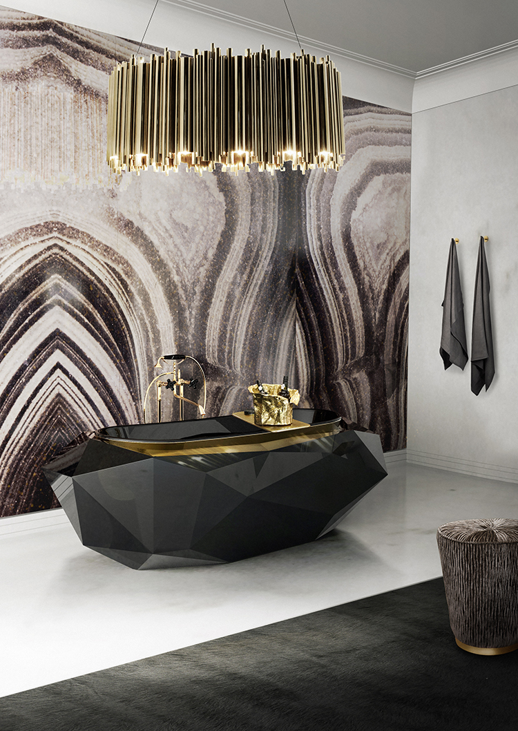 diamond-bathtub-matheny-suspension-maison-valentina lighting design Lighting Design ideas to decorate Bathrooms diamond bathtub matheny suspension maison valentina