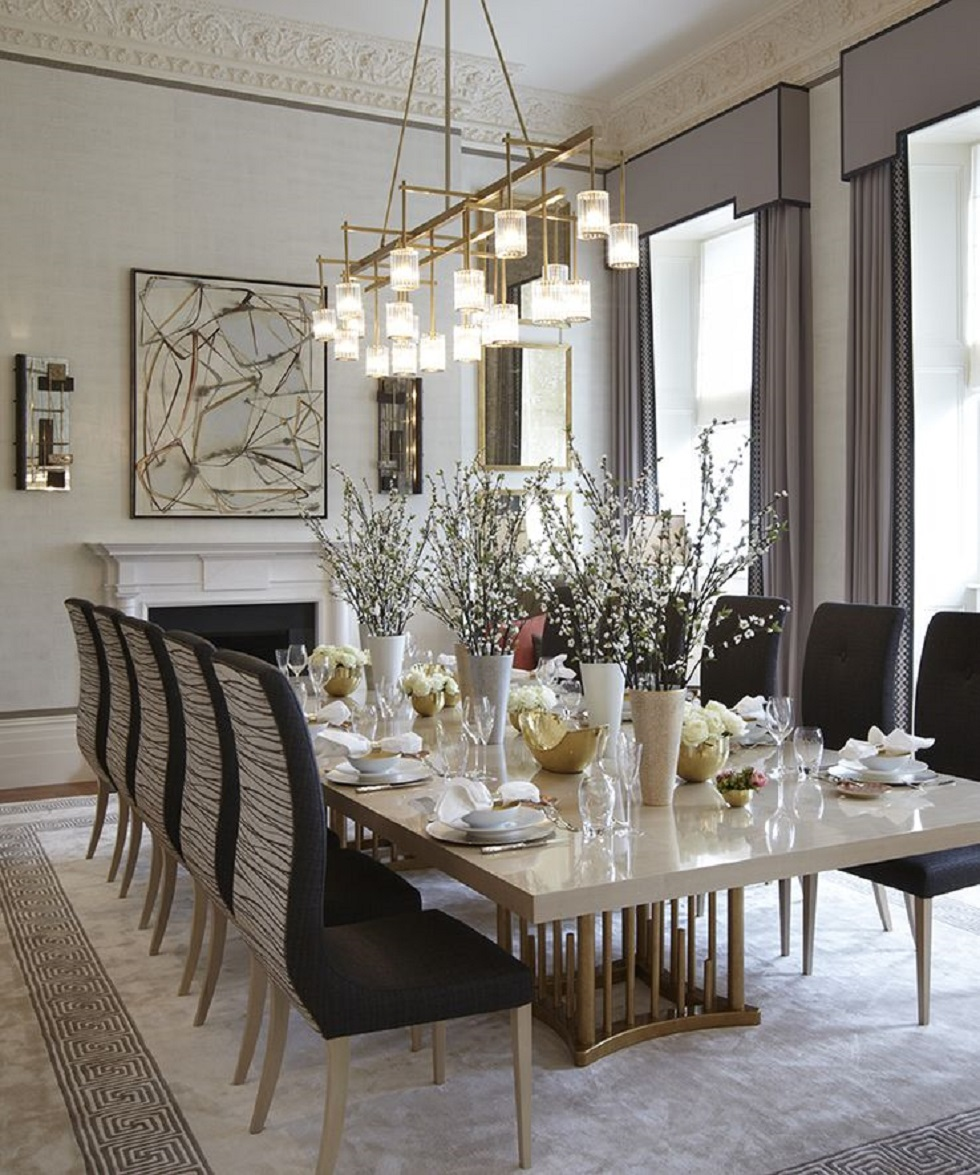 Luxury Rooms with lighting Golden Details dining room golden Luxury Rooms with lighting Golden Details Luxury Rooms with lighting Golden Details dining room
