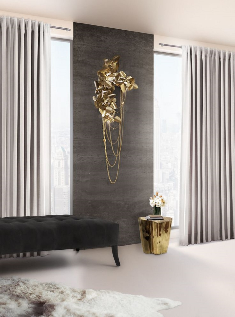 golden Luxury Rooms with lighting Golden Details Luxury Rooms with lighting Golden Details mcqueen